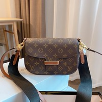 LV Louis Vuitton vintage old flower women's shoulder bag