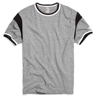Short Sleeve Armhole Tee in Salt and Pepper