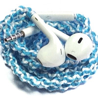 Aqua Surprise MyBudsBuzz Wrapped Headphones Tangle Free Earbuds Your Choice of Headphones