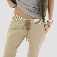 Free shipping  autumn& summer new 2014 women bottoms plus size pant casual slim harem pants woman trousers