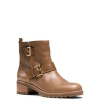 Gretchen Leather Ankle Boot   Michael Kors