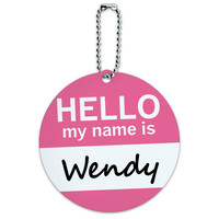 Wendy Hello My Name Is Round ID Card Luggage Tag