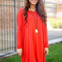 Piko Dress - Persian Red