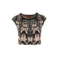 WOW Couture Womens Knit Stretch Crop Sweater