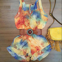 Stylish Casual Sleeveless Summer Romper [4933134532]