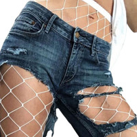 Large Fishnet Breathable Elastic High Stockings Tights Pantyhose 2017 New Sexy Fashion Mesh High Waist Red White 2 Color