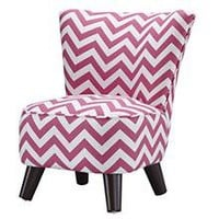 Kids Chairs: Pink Chevron Mini Chair in All Kid Seating