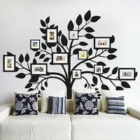Family Photos Tree Wall Sticker