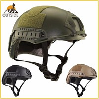 Protective Paintball Wargame Helmet Army Airsoft MH Tactical FAST Helmet with Protective Goggle Lightweight Assorted Colors FREE SHIPPING