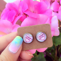 Too Sassy For You Graphic Earrings