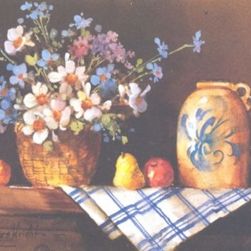 Still Life with Flowers V 6 x 7.5 lithograph