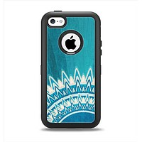 The Blue Spiked Orb Pattern V3 Apple iPhone 5c Otterbox Defender Case Skin Set