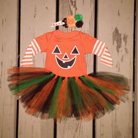 Baby Girl Halloween Outfit - Onesuit - Leg Warmers - Long Sleeve Onesuit - Many Sizes