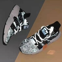Adidas Prophere Trending Women Men Casual Knitting Sport Running Reflective Shoes Sneakers