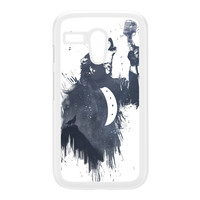 Wolf Song 3 White Hard Plastic Case for Moto G by Balazs Solti