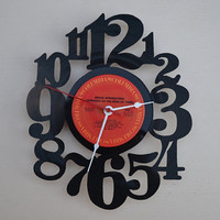 Vinyl Record Album Wall Clock (artist is Bruce Springsteen)