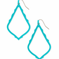 Sophee Matte Drop Earrings Red | Kendra Scott