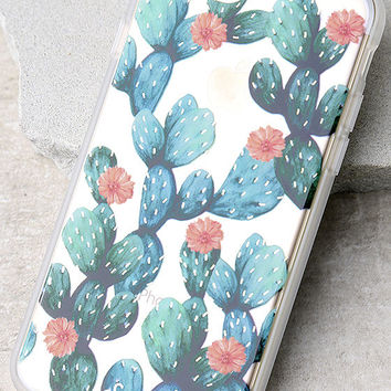 Sonix Agave Clear and Green Cactus Print iPhone 7 Case