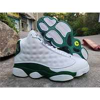 Air Jordan 13 Retro White/Green Ray Allen AJ13 Retro Men Basketball Shoes