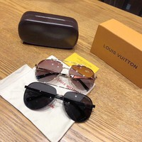 """Louis Vuitton LV"" Unisex Fashion All-match Sunglasses Glasses Couple Collocation Accessories"