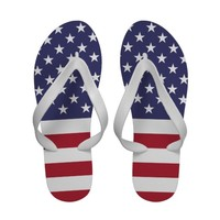Flag of the United States of America Sandals from Zazzle.com
