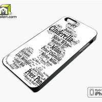 Disney Words Collage iPhone 5s Case Cover by Avallen
