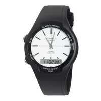 Casio Men's AW90H-7E Sport Multi-Function White Dial Dual Time Watch