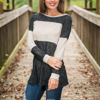 Think About Me Tunic, Black