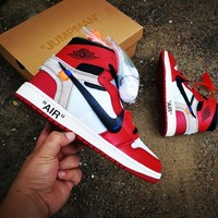 "Off White x Air Jordan 1 ""Brad"" Sport Shoe"