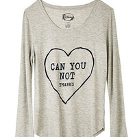Can You Not Long-Sleeve Top - Grey