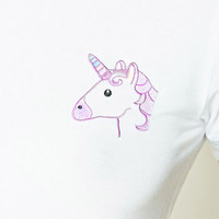 Unicorn Graphic Ringer Tee