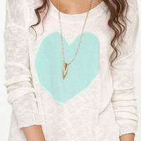 Black Poppy Valentine's Pullover Sweater at PacSun.com