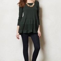 Tiered Sweater Tunic by Knitted & Knotted D Green Xs Sweaters