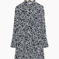 & Other Stories | Buttoned Floral Dress | Black