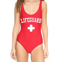 Lifeguard Baywatch Red One Piece Swimsuit