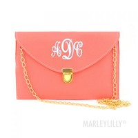 Monogrammed Luxe Cross Body Clutch | Marley Lilly