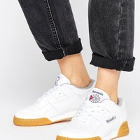 Reebok Workout Plus Sneakers With Gum Sole at asos.com