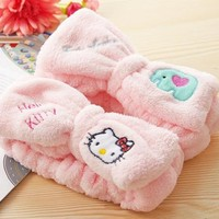 New Hello Kitty Wash Face Makeup Beauty Exercise Hair  Cap yey-05