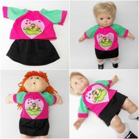"""Cabbage Patch Clothes 16"""", boy or girl doll HANDMADE Dark Brown cotton Pants"""