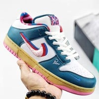 Trendsetter Parra x Nike SB Dunk Low  Women Men Fashion Casual Old Skool Shoes