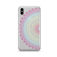 Cotton Candy Mandala [@okitssteph X @milkywaycases] - Clear TPU - iPhone Case