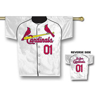 St. Louis Cardinals MLB 2 Sided Jersey Banner (34 x 30)
