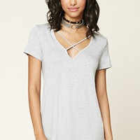 Strappy Cutout Tee