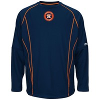 Majestic Houston Astros On-Field Practice Therma Base Fleece Pullover