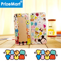 Tsum Tsum Collection Fashion Phone Case For iPhone 5 5S 6 6S 6Plus 6SPlus Case Mickey Minnie Sully Clear TPU Soft Phone cover