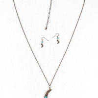 Once In A Blue Moon Necklace