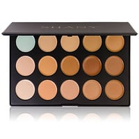 Professional Cream Foundation and Camouflage Concealer - 15 Color Palette