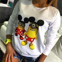 SIMPLE - Minion Printed Long Sleeve Top a12121