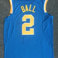 2017 New arrivals High quality embroidery UCLA #2 Lonzo Ball basketball jerseys for men