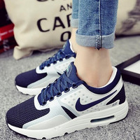 "Fashion ""Nike"" Reflective Sneakers Sport Shoes Blue"